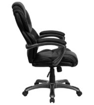 Aristocraft Series III Black Leather Executive Chair-16153
