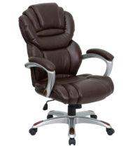 Aristocraft Series III Brown Leather Executive Chair-0