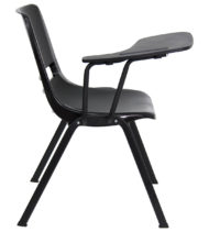Black Ergonomic Shell Chair with Right Handed Flip-Up Tablet Arm -17143