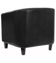 Black Leather Office Guest Chair / Reception Chair -15452