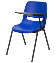 Blue Ergonomic Shell Chair with Left Handed Flip-Up Tablet Arm -0