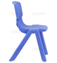 Blue Plastic Stackable School Chair with 15.5'' Seat Height -18386
