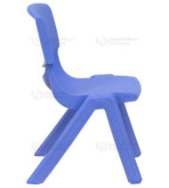 Blue Plastic Stackable School Chair with 10.5'' Seat Height -0