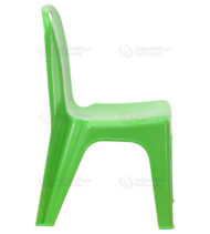 Green Plastic Stackable School Chair with Carrying Handle and 11'' Seat Height -18450