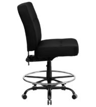 HERCULES Series 400 lb. Capacity Big & Tall Black Fabric Drafting Stool with Extra WIDE Seat -17366