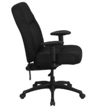 HERCULES Series 400 lb. Capacity High Back Big & Tall Black Fabric Office Chair with Height Adjustable Arms and Extra WIDE Seat -17350