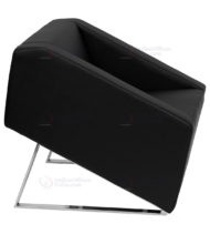 HERCULES Smart Series Black Leather Reception Chair -18568