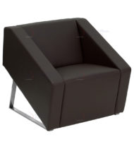 HERCULES Smart Series Brown Leather Reception Chair -0