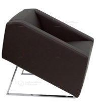 HERCULES Smart Series Brown Leather Reception Chair -18572