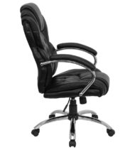 Aristocraft Transitional Black Leather Executive Office Chair-16161