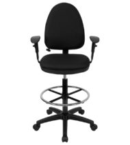 Performance Series Mid-Back Drafting Stool with Lumbar Support-0