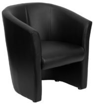 Value Star Leather Barrel Shaped Guest Chair-0