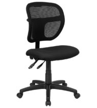Value Star Mid-Back Mesh Task Chair with Black Fabric Seat -0