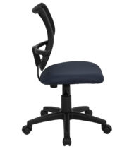 Mid-Back Mesh Task Chair with Navy Blue Fabric Seat -17443