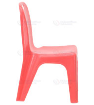 Red Plastic Stackable School Chair with Carrying Handle and 11'' Seat Height -18454
