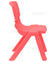 Red Plastic Stackable School Chair with 10.5'' Seat Height -0