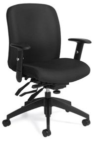 Global Total Office 5451-3 Medium Back Multi-Tilter with SC arms and B5 Black base