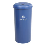 Cans Only Tall Round Recycling Receptacle