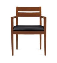 Offices to Go 11820_TH Toffee Wood Accented Guest chair