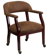 Legends Brown Luxurious Conference Chair with Casters -0