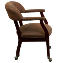 Legends Brown Luxurious Conference Chair with Casters -15545