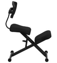Ergoneel Kneeling Chair with Black Mesh Back and Fabric Seat -17322