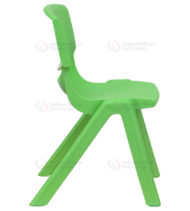 Green Plastic Stackable School Chair with 12'' Seat Height -18366