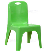 Green Plastic Stackable School Chair with Carrying Handle and 11'' Seat Height -0