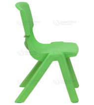 Green Plastic Stackable School Chair with 10.5'' Seat Height -0