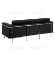 HERCULES Lesley Series Contemporary Black Leather Sofa with Encasing Frame -18537