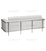 HERCULES Lesley Series Contemporary White Leather Sofa with Encasing Frame -18543
