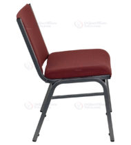 HERCULES Series 1000 lb. Capacity Big and Tall Extra Wide Burgundy Fabric Stack Chair -17633
