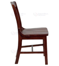 Hercules Series Mahogany Finished School House Back Wooden Restaurant Chair-18181