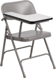 Premium Steel Folding Chair with Right Handed Tablet Arm -0