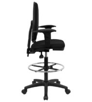 Performance Series Mid-Back Drafting Stool with Lumbar Support-17446