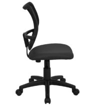 Mid-Back Mesh Task Chair with Gray Fabric Seat -17427