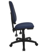 Mid-Back Navy Blue Fabric Multi-Functional Task Chair with Adjustable Lumbar Support -17490