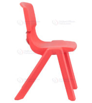 Red Plastic Stackable School Chair with 15.5'' Seat Height -18394
