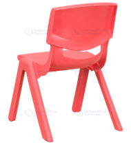 Red Plastic Stackable School Chair with 10.5'' Seat Height -14216