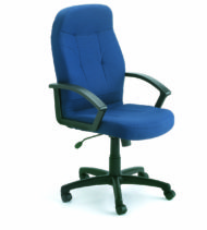 Boss Executive Fabric Chair In Blue-0