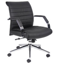 Boss Executive Mid Back Ribbed Chair-0