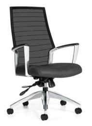 Global Accord Mesh High Back Tilter Front View